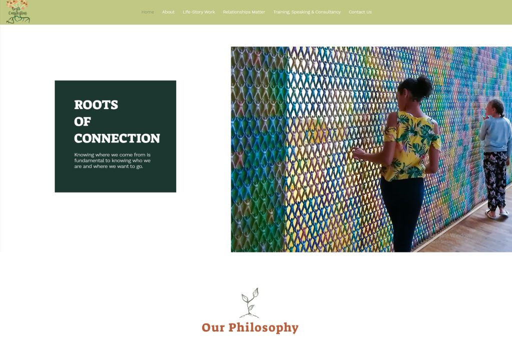 Roots of Connection website still